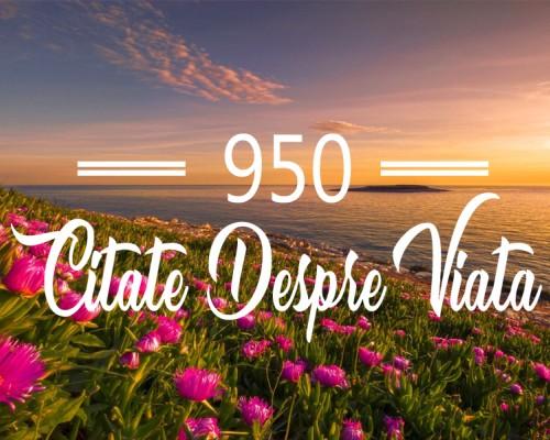 950 citate despre viata care sa te inspire in fiecare zi